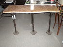 Iron Console Table with Marble Top