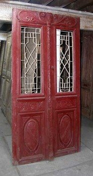 French Pine Double Doors