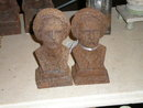 Antique Andiron Busts
