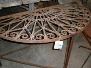 Iron Demi Lune Console table
