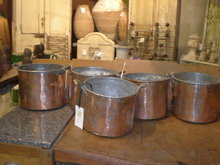 Antique Copper Pots