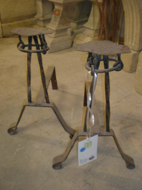 Pair of Rustic Andirons