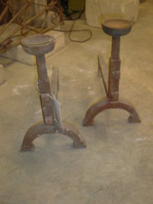 Pair of Country French Andirons