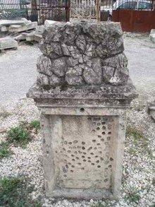 Botanical Stone Marker