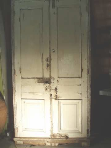 Double Antique Doors with Iron
