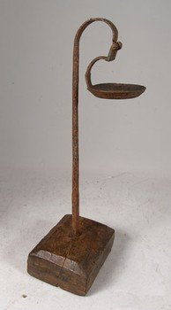 Hand Forged Iron Oil Lamps