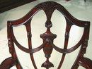 Mahogany Shield Back Dining Chairs | Prince of Wales | Shield Back Chairs | Federal Dining Chairs