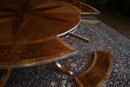 Mahogany Round Dining Table   Round Mahogany Dining Table with Perimeter Leaves