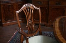 Mahogany Dining Chairs | Shield Back Dining Chairs | Tall Federal Chairs