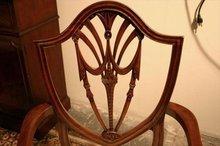Mahogany Dining Room Chairs   Shield Back Dining Room Chairs   Swag Federal Dining Chairs