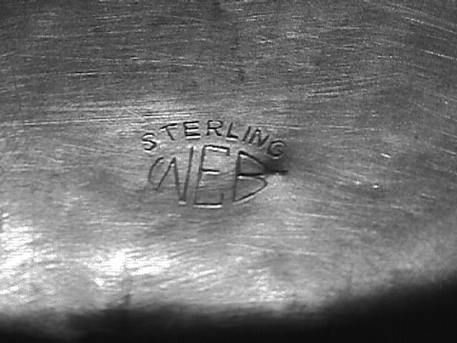 Web for Webster? Sterling Baby Cup Engraved Deborah