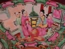 Oriental Display Plate with Oriental People and Fruit