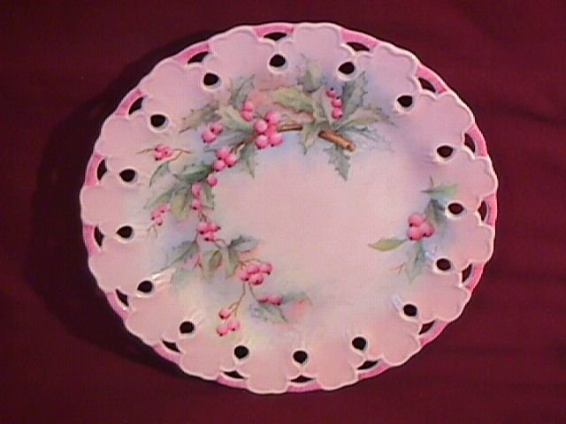Lovely China-Hand Painted Display Plate by Emily Davis