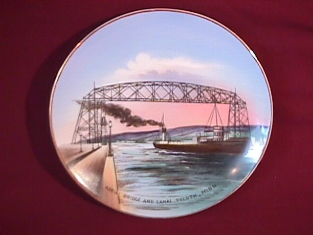 Display Plate by Jonroth Studios of Aerial Bridge and Canal