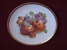 Porcelain Display Plate Featuring Fruit & Nuts