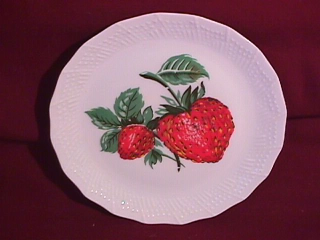 French Porcelain Display Plate (Strawberries)