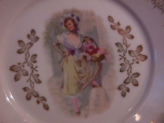 Porcelain Display Plate Featuring Victorian Lady