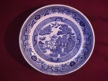 Flow Blue (Blue Willow) Soup Bowl