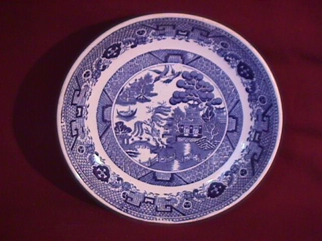 Flow Blue (Blue Willow) Soup Bowl
