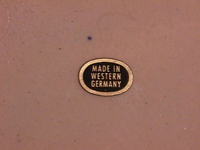 West Germany (Oyster Type) Wall Display Plate