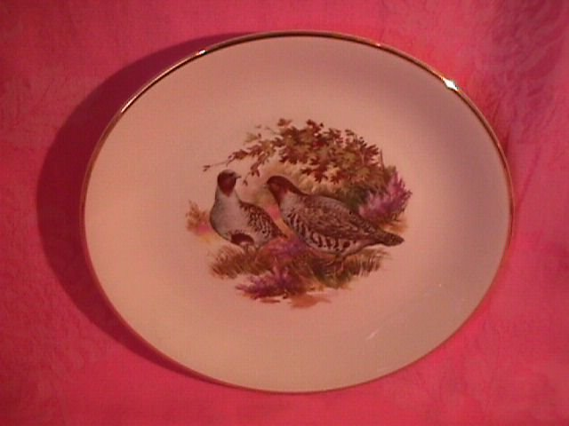 Royal Falcon Ware Game Birds Lunch Plate (Quail)