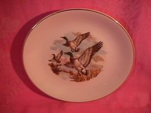 Royal Falcon Ware Game Birds Lunch Plate  (Mallards in Flight)