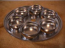Chef's Ware-Townecraft Stainless  Egg Poacher=Tray & 6 Cups