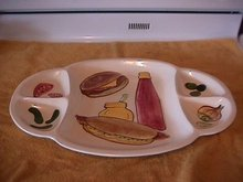 Los Angeles Potteries Large Serving Platter (5-Part)