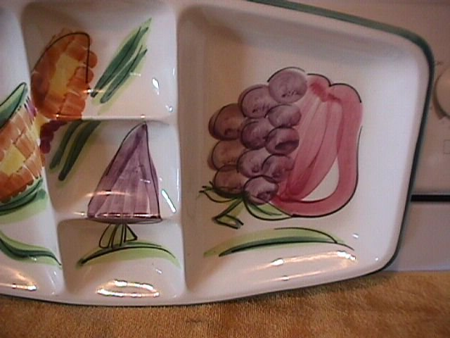 Los Angeles Potteries Large Relish Tray (5-Part)