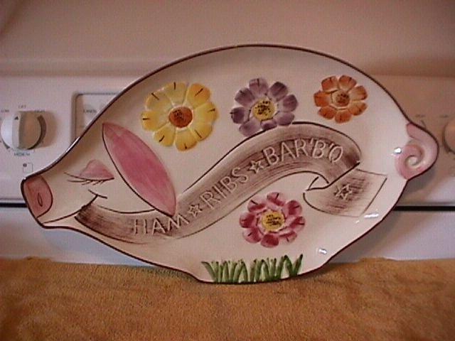 Los Angeles Potteries Unique Pig Shaped Platter