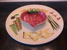Los Angeles Potteries Vegetable Dip Platter