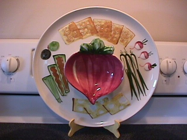 Los Angeles Potteries Vegetable Dip Platter