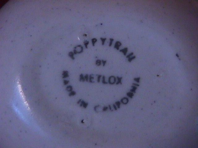 Metlox -Vernon Kilns Pottery
