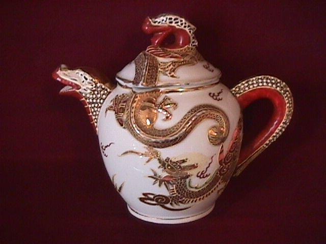 Dragon Ware Teapot (Demitasse)