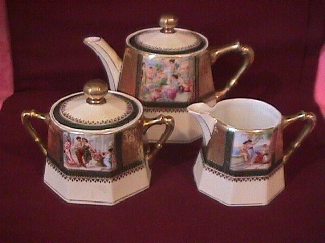 Vintage Schwarzburg Porcelain Tea Set