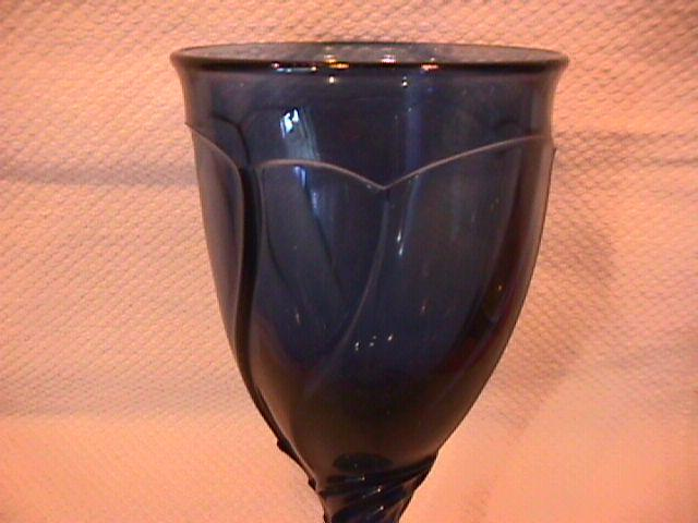 Noritake Crystal (Sweet Swirl) Dark Blue Goblet