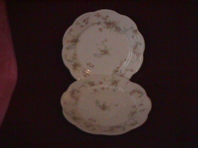 Haviland Porcelain (Schleiger #57-B) 2-Cake Plates=As Is