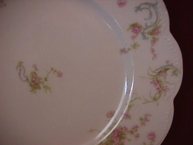 Haviland Porcelain (Schleiger #57-B) Lunch Plate As Is