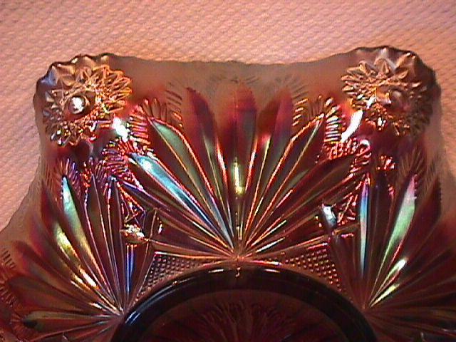 Millersburg Carnival Glass (Rays & Ribbons) Bowl (Amethyst)