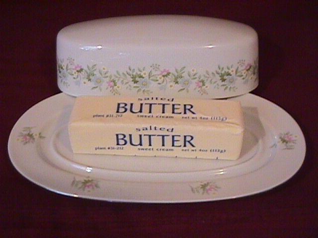 Johann Haviland (Forever Spring) Covered Butter