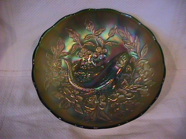 Beautiful Millersburg (Trout & Fly) Bowl (Green)