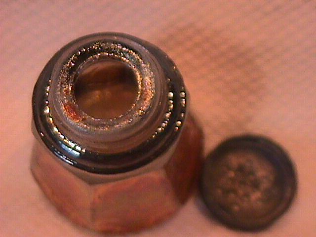 Imperial Carnival Glass (Soda Gold)  Salt Shaker (Smoke)