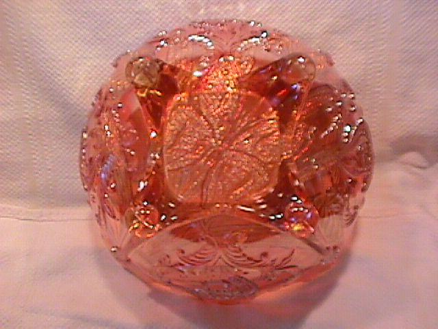 Dugan Carnival Glass (Butterfly & Tulip) Bowl (Marigold)