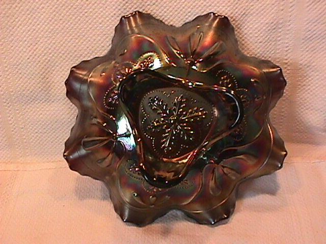 Northwood Carnival Glass (Sunflower) Bowl (Amethyst)