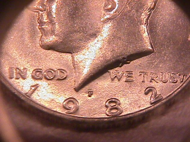 U. S. Coinage Kenedy Half Dollar Roll 1982-P