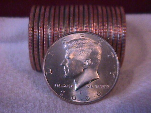 United States Coinage Kennedy Half Dollar 2000-P Roll