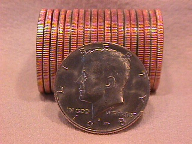 United States Coinage Kennedy Half Dollar Roll 1978-D