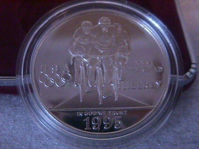 SILVER DOLLAR Atlanta 100 TH. Olympics.