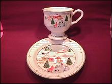Sango Fine China (Silent Night #3900) Cup & Saucer