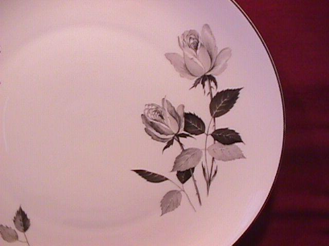 Cathedral Fine China (Silhouette Rose) 2-Cake Plates